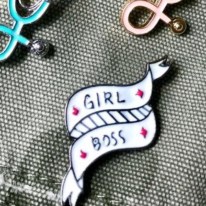 Jewelry - Girl Boss Pin Brooch Enamel Kawaii Cute Fun